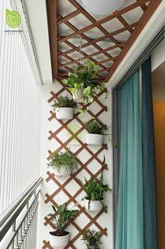 Trendy Small Balcony Patio Decorating Ideas with Tips - Cozy Home 101 Garden Garden apartment Garden ideas Garden small Small Balcony Design, Small Balcony Garden, Small Balcony Decor, Outdoor Balcony, Small Garden Design, Backyard Patio, Patio Stone, Flagstone Patio, Concrete Patio