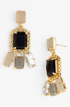 These sparkly black and grey crystal drop earrings are going on the wishlist.