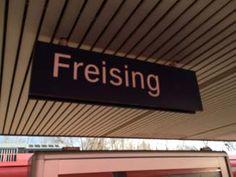 Ankunft am Bahnhof Freising
