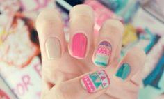 Shevron nails