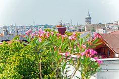 Der Blick von der Terrassenwohnung Istanbul Amedros Suites