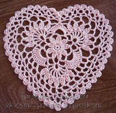 Mis Pasatiempos Amo el Crochet: Servilleta -. Corazón