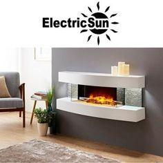 Semineu electric 3D ElectricSun Paula alb mediu 48 pe perete Interior, Modern, Home Decor, Electric, 3d, Trendy Tree, Decoration Home, Indoor, Room Decor