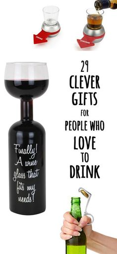 29 Clever Gifts For People Who Love To Drink  Where were these things during my college years?!