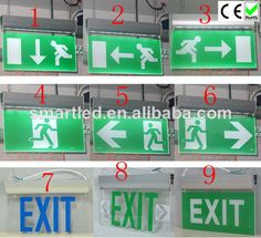 wall mounted emergency exit sign LED source:SMD CE/ROHS 3 years warranty