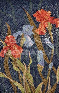 Стеклянная мозаика, серия Monpasie, цвет: бордовый