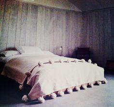 marokkanische Bett-Überdecke Pompons