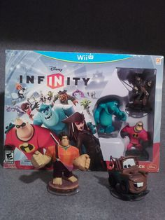Wii U Disney Infinity Starter Pack Mr. Incredible, Sully, Jack S, Mater, Ralph