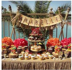Luau candy table