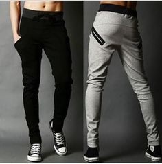 540136da1758 Men harlan pants fashion cotton lace-up sweatpants In the spring and autumn  feet pants tracksuit bottoms