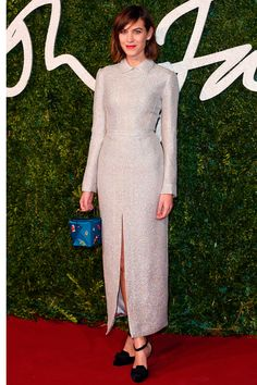 alexa chung in emilia wickstead on the 2014 british fashion awards red carpet. #bfa