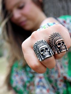 Search results for: 'collections jewelry s indian head skull ring' - Junk GYpSy co. Skull Wedding Ring, Skull Engagement Ring, Wedding Rings, Indian Skull, Indian Head, Skull Jewelry, Silver Jewelry, Skull Rings, Gypsy Style