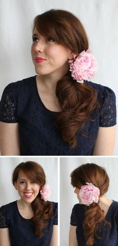 Ways to wear your hair with flower clips