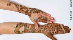 Indian Unique Bridal Mehndi Designs 2015 http://clothingpk.blogspot.com/2015/04/indian-unique-bridal-mehndi-designs-2015.html