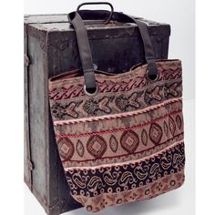 Southern Girl Fashion Bags - ETHNIC TOTE Vegan Leather Tapestry Embellished Bag