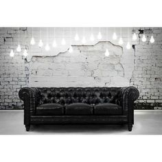 Features:  -Zahara collection.  -Famious Chesterfield design.  Frame Finish: -Black.  Frame Material: -Wood.  Design: -Standard.  Style (Old): -Contemporary. Dimensions:  -Dimensions of the seat are 1