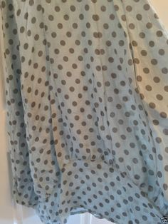Italian LAGENLOOK POLKA DOT Quirky BALLOON Shaped BOHO Tulip SPOTTED LINEN Dress