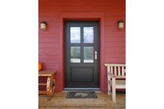 Farmhouse style entry   Best Energy-Efficient Home – Fine Homebuilding's 2014 HOUSES Awards - http://www.finehomebuilding.com/houseawards/2014/best-energy-smart-home