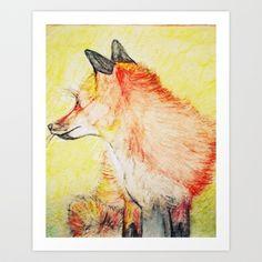 Fox Art Print by serenes lamb - $13.00