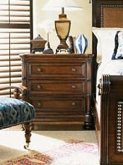 Crafted from beautifully toned wood, the Islandia Nighstand offers beauty and functionality in your master suite.