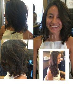 Long to short. Haircut by Hairby_Mari