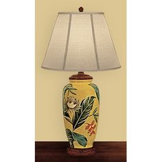 "JB Hirsch 29"" Palm Leaf Porcelain Table Lamp"