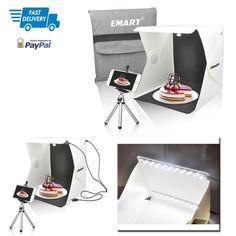 Photo Lighting Studio Shooting Tent Box Kit 40 LED Foldable And Portable USB #EMART