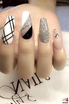 Purple Nail Designs, Long Nail Designs, Acrylic Nail Designs, Nail Art Designs, Cute Acrylic Nails, Cute Nails, Peach Colored Nails, Square Nail Designs, Nails Design With Rhinestones