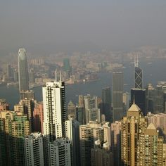 Hong Kong Skyscrapers - Peak View Hong Kong means fragrant harbor or port of good smells. Visited while it was under British rule.