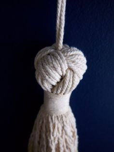 Macramé Knot Tassel by ouchflower on Etsy, $40.00