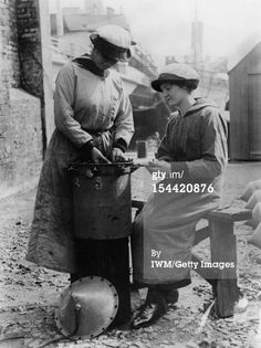 Getty Images caption 'Women In Uniform During The First World War: The Women's Royal Naval Service, c. 1918, Two ratings of the WRNS assemble a mine in the sunshine, probably at Lowestoft, circa 1918. (Photo by G P Lewis/ IWM via Getty Images)'. Probably IWM Q 19647.