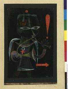 """""""Héraut noir"""" de Paul Klee (1879-1940). Allemagne, Berlin, Nationalgalerie, Museum Berggruen (SMB) - Photo (C) BPK, Berlin, Dist. RMN-Grand Palais / Jens Ziehe"""