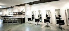 Salon Capri is Boston is defining edge and elegance with modern black and white. Clean sophistication.