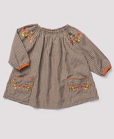 Worth Baby Dress, Brown Gingham
