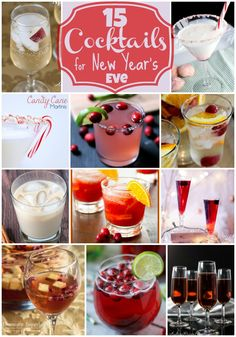 15 Cocktails for New Year's Eve - these are perfect for New Year's Eve Parties!!!