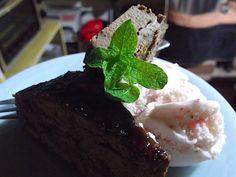 Sachertorte&chocolate cake&strawberry jelato