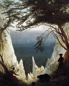 FRIEDRICH, Caspar David Chalk Cliffs on Rügen c. 1818 Oil on canvas, 90,5 x 71 cm Oskar Reinhart Collection, Winterthur
