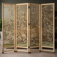 Mar 2020 - Hand Painted Silk Fabrics as voile, folding screen, curtains, welcome OEM cooperation! Silk Wallpaper, Hand Painted Wallpaper, Chinoiserie Wallpaper, Painting Wallpaper, Silk Painting, Folding Screen Room Divider, Diy Room Divider, Room Screen, Folding Screens