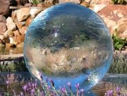 Aqualens 12 fountain globe by Allison Armour -