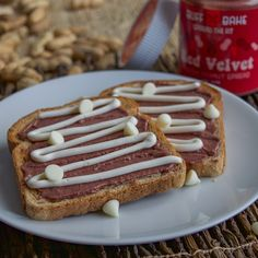 Red Velvet and White Chocolate Protein Toast
