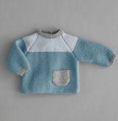Babies' Sweater Pattern In Phildar® Lamb - Diy Crafts - Marecipe Free Baby Blanket Patterns, Baby Sweater Patterns, Baby Hat Knitting Pattern, Knit Baby Sweaters, Knitted Baby Clothes, Girls Sweaters, Baby Patterns, Cardigans, Clothing Patterns