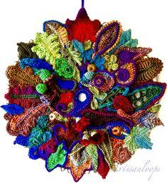 Ravelry: Ne11's Leaf Catcher - freeform crochet and knitting.