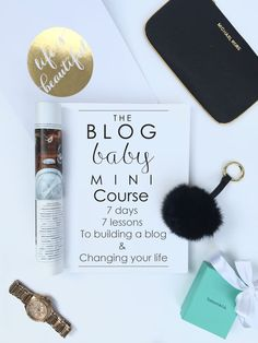 The FREE Blog Baby Mini Course - how to build a blog and change your life! 7 days, 7 lessons. Email Course - by Mauve blogs.