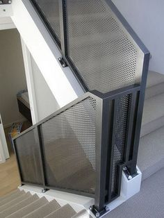 Some stairs occupy a terrific deal of space and because of this, you need to ensure folks can get around them. Also bear in mind the way the stairs… Continue Reading → Railing Design, Gate Design, Staircase Design, House Design, Metal Stairs, Staircase Railings, Stairways, Steel Railing, Metal Railings