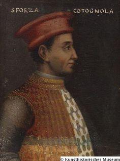 Sforza Muzio Attendolo di Cottignuola, Heerführer, gestorben 1424 Papier auf Holz Kunsthistorisches Museum.