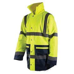 Hi-Vis Jacket Class 3 XL Safety & Workwear Clothing Sweat Shirt, Parka, Safety Workwear, Workwear Clothing, Mens Raincoat, Softshell, Warm Coat, Work Wear, Hooded Jacket