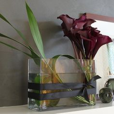 red calla lilies contemporary arrangement