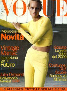Amber Valletta - Vogue Italy, 1996