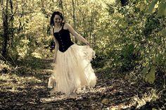 Tattered wedding tutu by TangledTatteredTorn on Etsy, $350.00