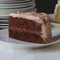 Double-Chocolate Layer Cake #valentines